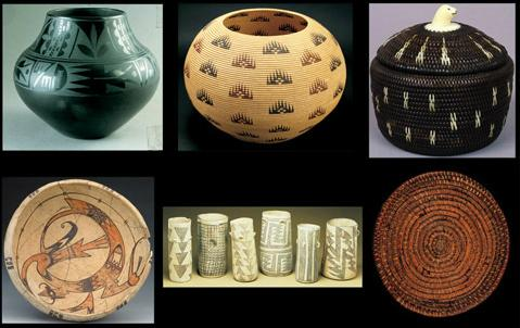 Poettery and Baskets by The Anasazi, c. 1100 to c. 1960