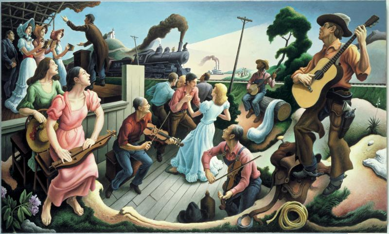"""The Sources of Country Music,"" Thomas Hart Benton"