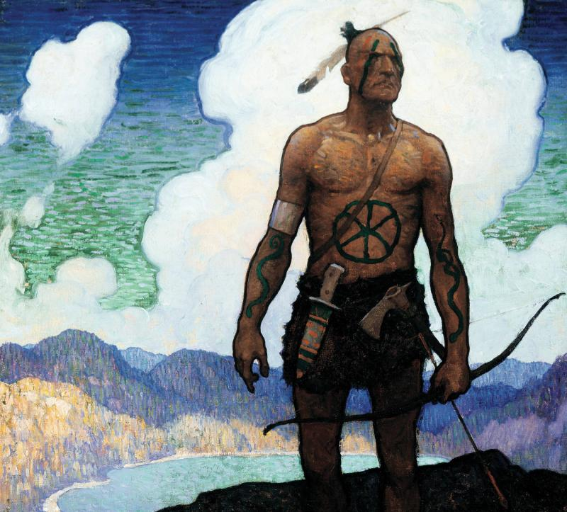 Cover Illustration for The Last of the Mohicans, N.C. Wyeth