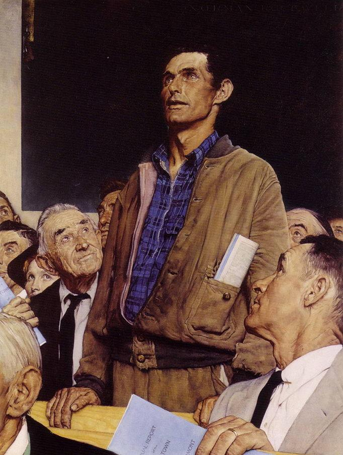 Freedom of Speech, The Saturday Evening Post, by Norman Rockwell