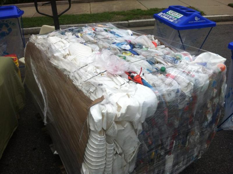 600 pounds of recycled plastic at GPS Recycling