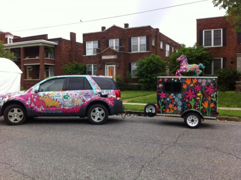 Marti McGinnis' art cars