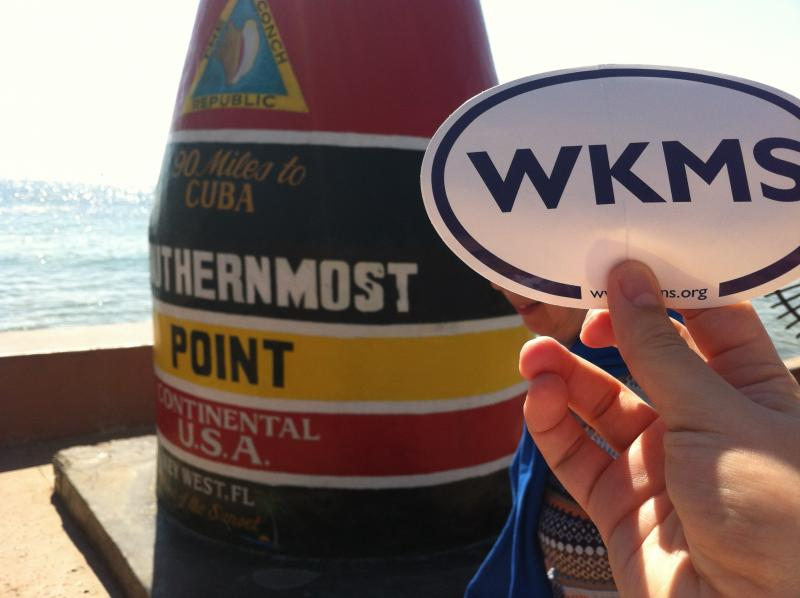 (Example Entry, Doesn't Count in Contest!) WKMS Sounds Good at the Southernmost Point in the Continental United States! Submitted by Matt Markgraf