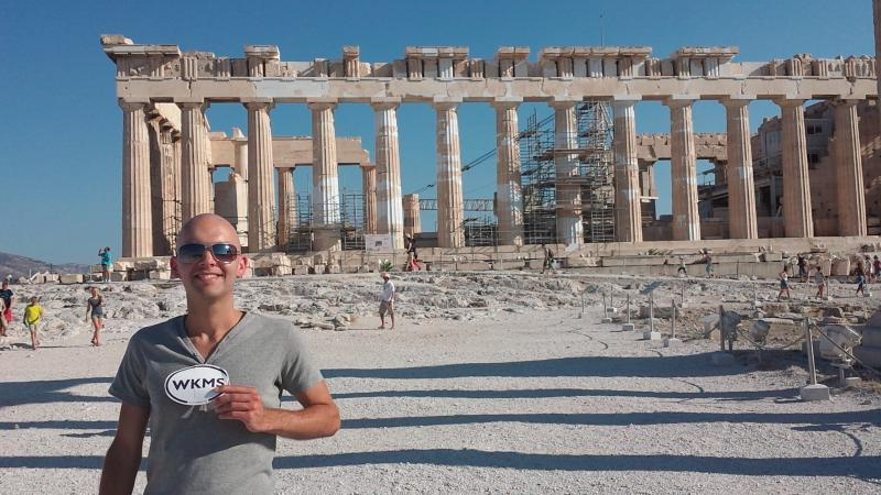 Bradley Simmons from Paducah, visiting the Parthenon in Athens, Greece!