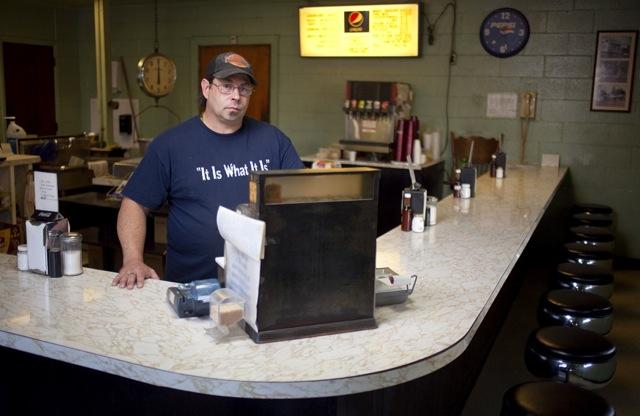 Ray Leigh, a third generation business owner, of Leigh's Barbecue in Kevil, Ky.