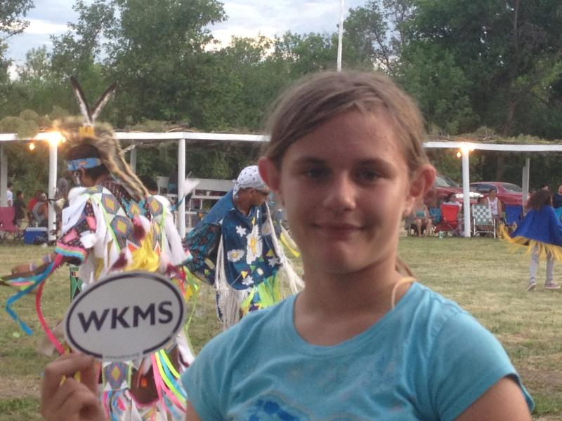 WKMS Youth Reporter Evelyn Dukes makes WKMS Sound Good at a Native American Pow-Wow on a mission trip to South Dakota