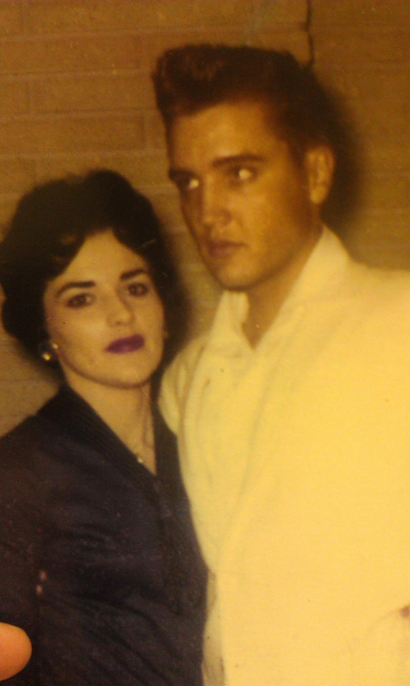 Barbara Flechtner with Elvis Presley