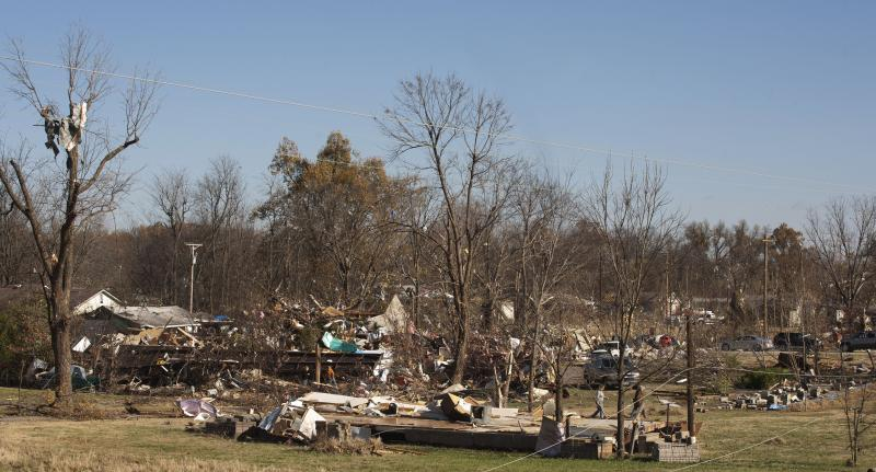 The devastation is seen in west Brookport.