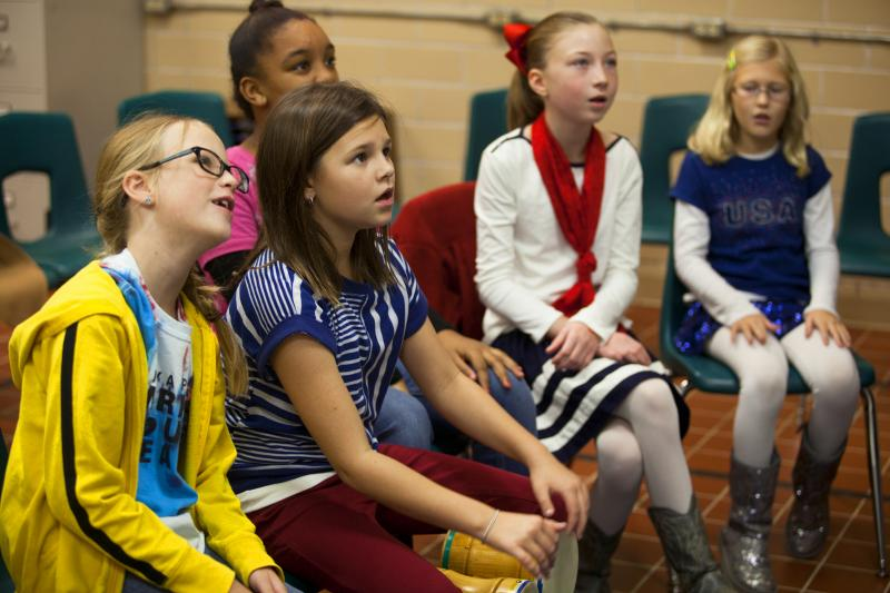 Concord Elementary students participate in Dr. Bradley Almquist's high aptitude music class.