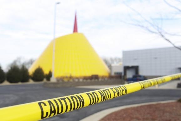 The National Corvette Museum is closed to visitors Wednesday after a 40-foot sinkhole opened up in the dome portion of the museum.
