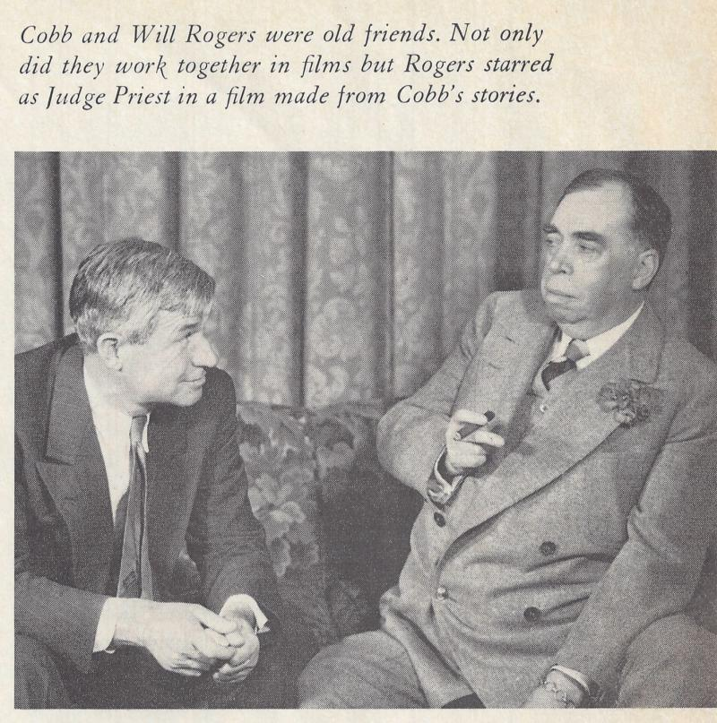 Cobb and Will Rogers, 1935.