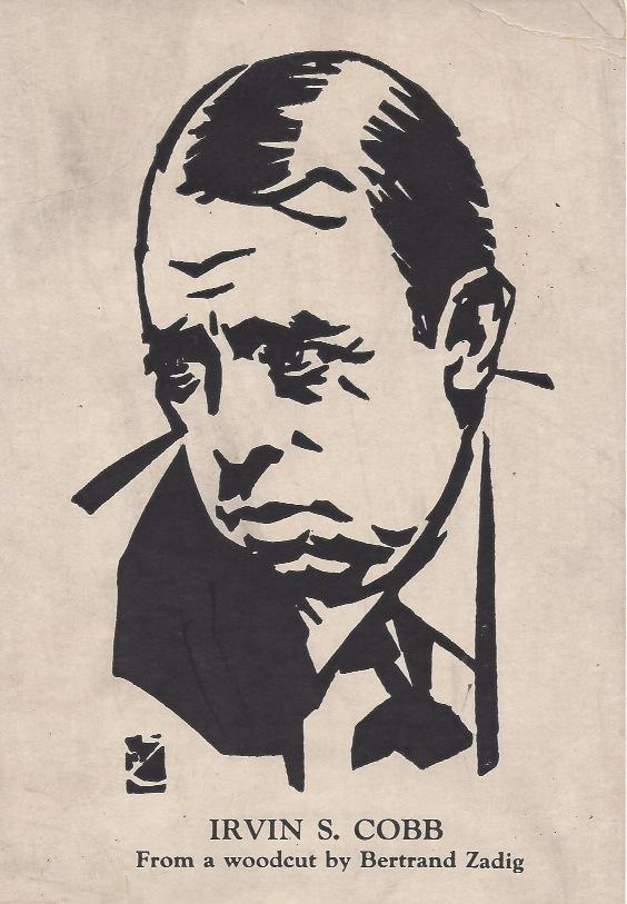 Woodcut of Irvin Cobb