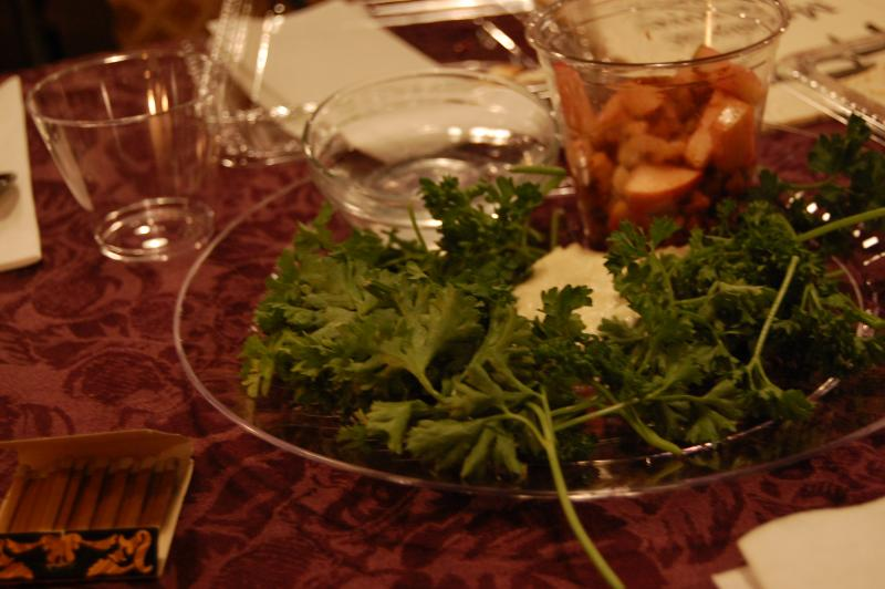 The plate that sits before participants in the traditional feast and ceremony.