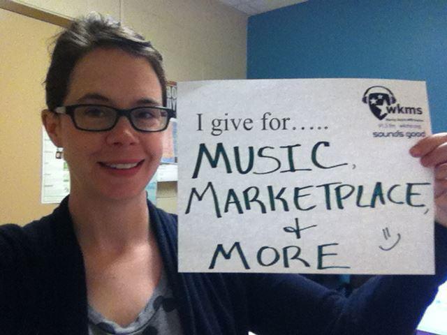 WKMS Membership Coordinator Jenni Todd