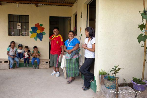 In their new home, built by Constru Casa volunteers