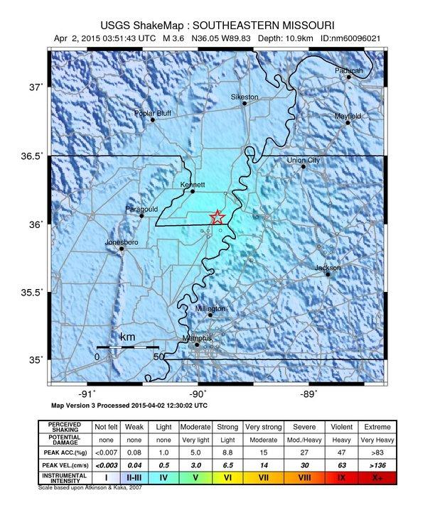 New Madrid Seismic Zone WKMS - Map of us after new madrid earthquake