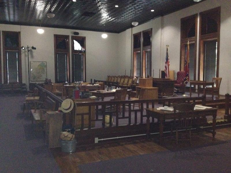 The interior of the courtroom where the 1925 Scopes Trial took place.