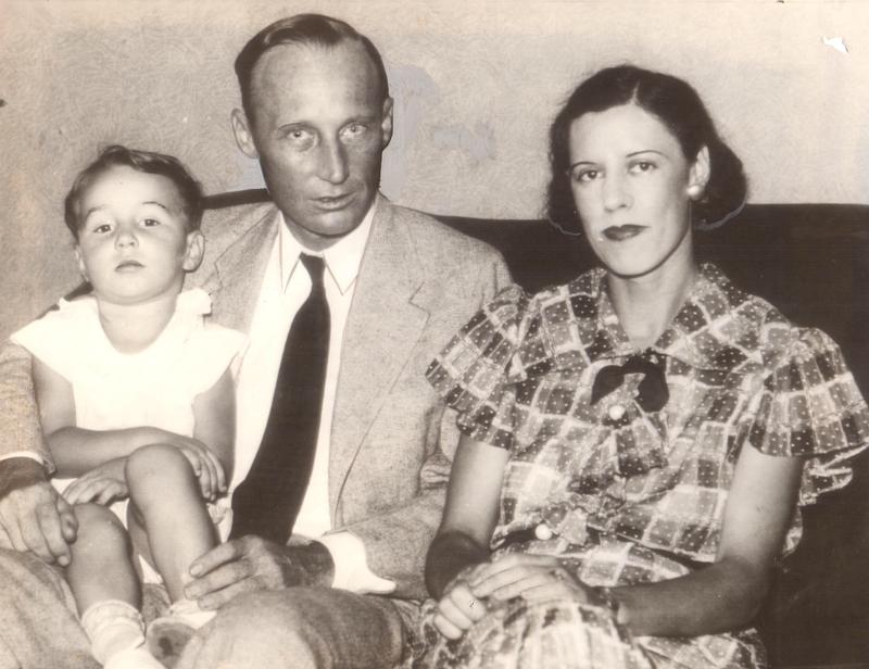 A 1935 Scopes family portrait.  From left: John, Jr.; John, Sr.; and Mildred.