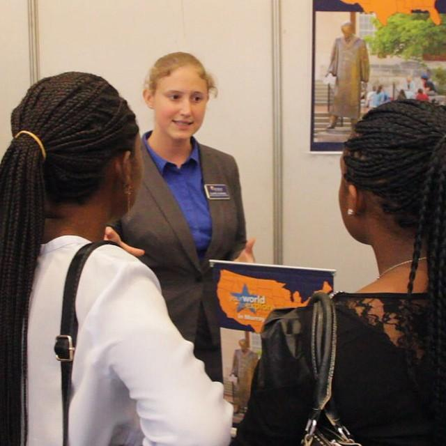 murray state university at the worldview africa fair - International Student Recruiter