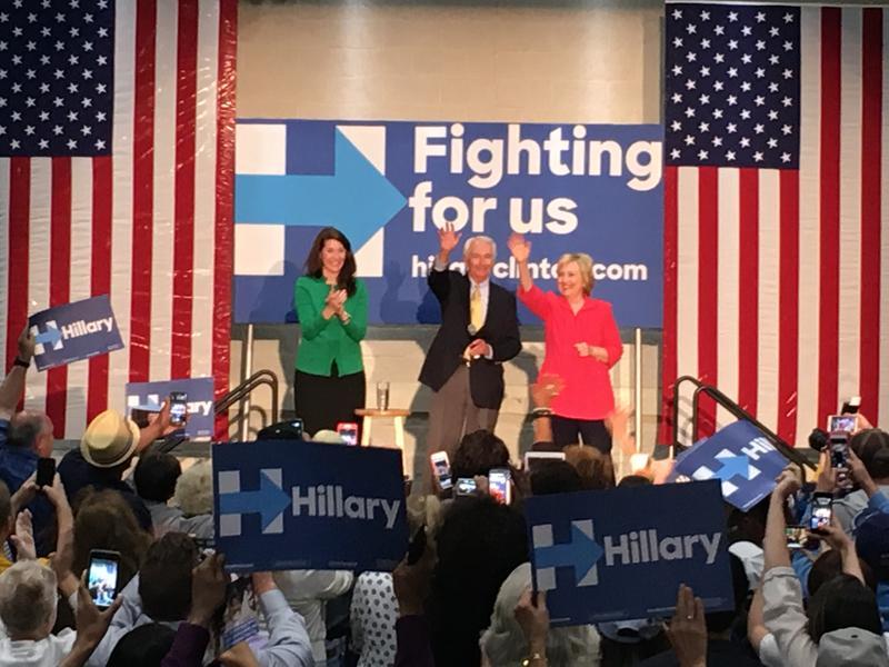 Alison Lundergan Grims, Steve Beshear, Hillary Clinton
