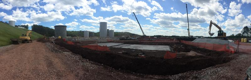 Antero Resources' Clearwater wastewater processing facility is under construction and is scheduled to begin accepting waste in September, 2017