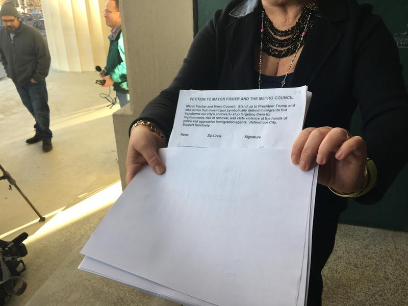 Latinx Group Delivers Sanctuary Petitions To Mayor S Office WKMS