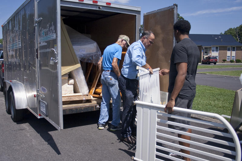 Joe Millay and Robert Arnold are volunteering to deliver and assemble bunk beds for a family in Paducah. Starfish Orphan Ministry gives items to families in need who don't have enough beds for their children.