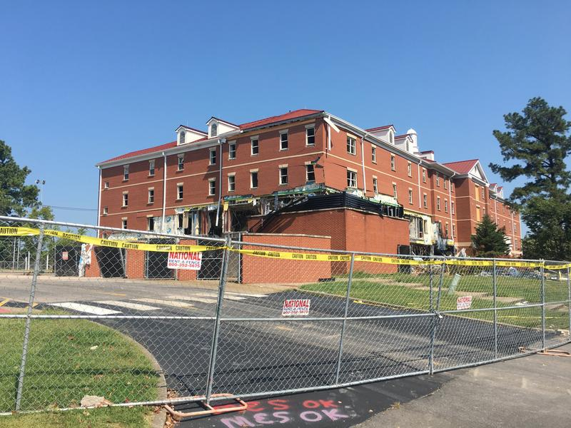 Richmond College was significantly damaged from a suspected gas leak on June 28
