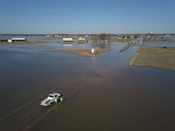 Flooding in Daviess County, Kentucky has covered roadways and caused at least 80 roads to be shut down, mostly in the outlying regions of the county.