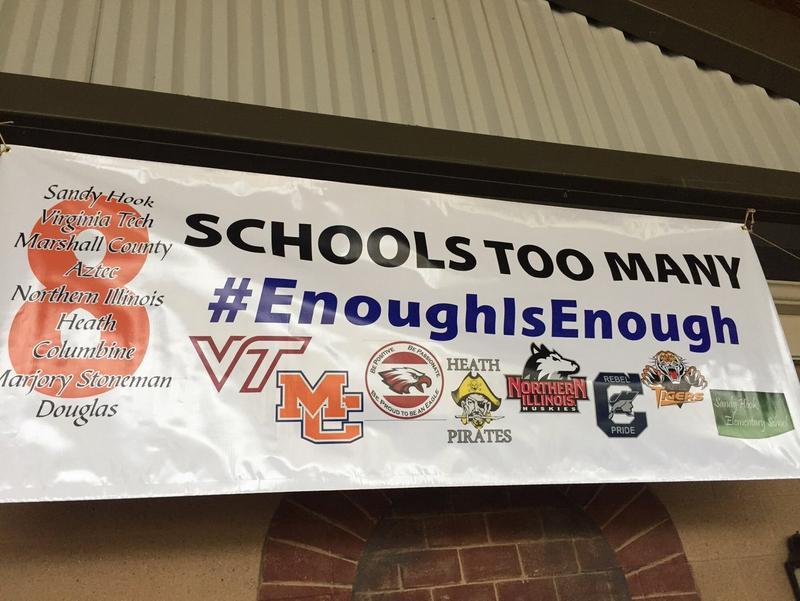 Banner at rally