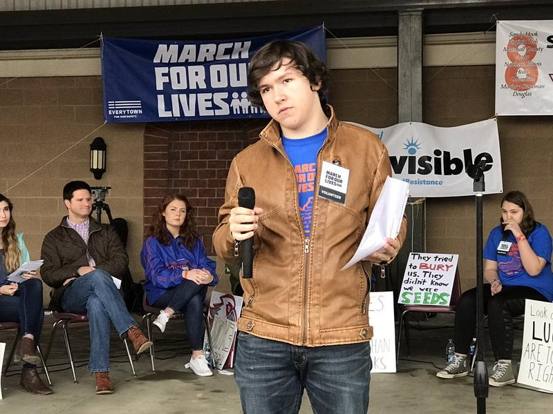 """""""When I go to school I think about where I should run... We don't need untrained teachers carrying guns."""" --Seth Adams, Marshall County High School student"""