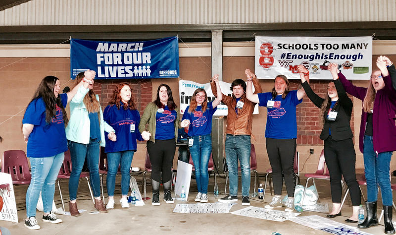 West Kentucky students at Marshall County March for Our Lives.