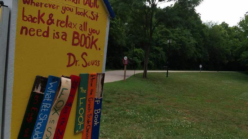 The Hopkinsville Parks and Recreation Department installed four libraries last spring. This one is located at the Riverwalk on North Drive.