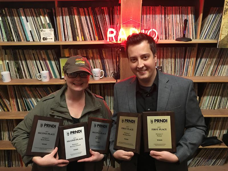 WKMS/Ohio Valley ReSource Reporter Nicole Erwin (left) and WKMS News Director Matt Markgraf (right)