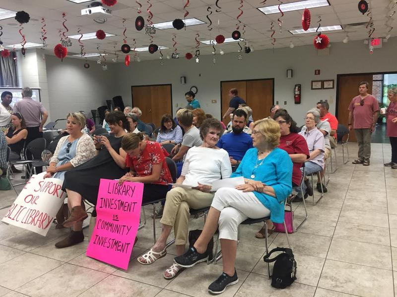 A large crowd gathered at Wednesday's Calloway County Library Board Meeting, where a newly appointed board voted to rescind the decision to move forward with the estimated $6.4 million dollar expansion project.