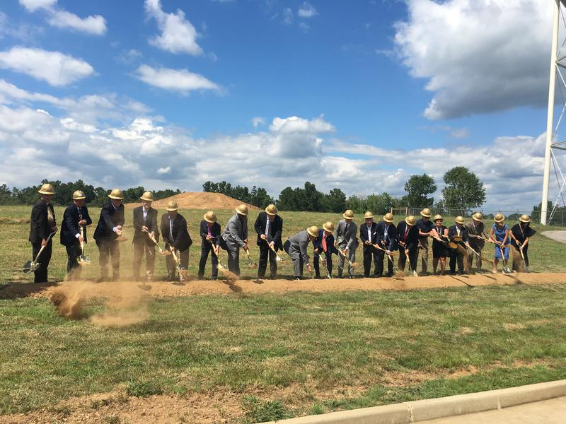 Officials ceremonially broke ground in Murray, Ky., on the new DAE-IL facility.