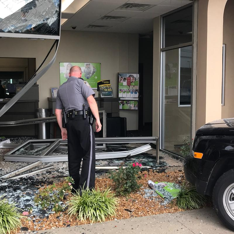 Local police say a man exited 12th Street and drove into Regions Bank in Murray, Ky. at around 3:30 p.m.