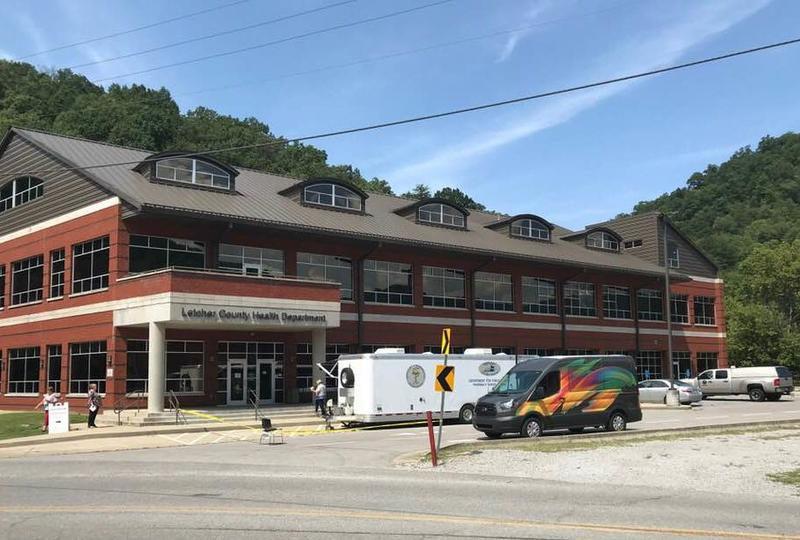 Mobile units for naloxone distribution and HIV/AIDS testing at the health department in Letcher County, Ky.