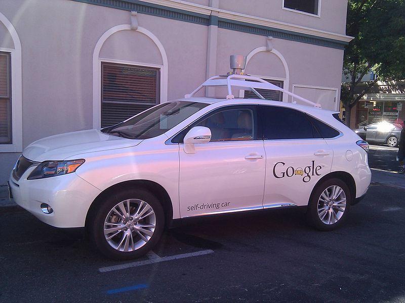 Google self driving car in Mountain View, Calif.