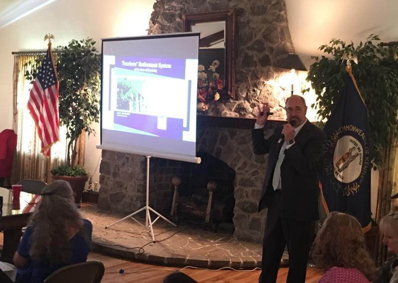 Kentucky Teachers' Retirement System Executive Secretary Gary Harbin spoke to members of the Calloway County Retired Teachers Association this week in Murray, Ky.