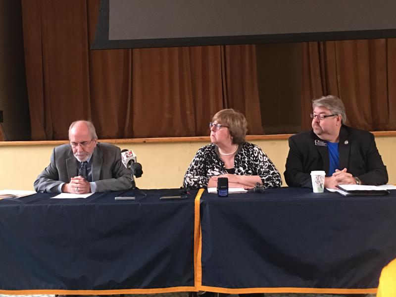Vice President of Student Affairs Don Robertson, Dept. of History chair Kathy Callahan, College of Business dean Tim Todd discuss lifting the suspension on Murray State's Greek Life social events and policy changes.