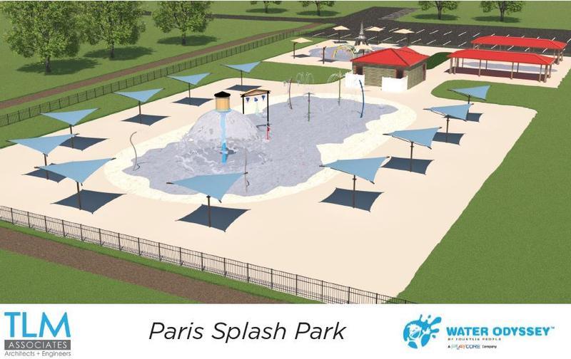 The Eiffel Tower Park in Paris, TN will start building a $1.3 million splash park in 2019.