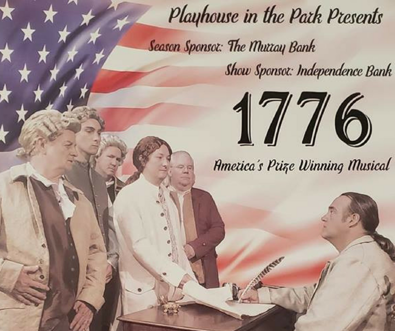 "Playhouse in the Park in Murray will be presenting ""1776 - The Musical"" from August 23rd to September 2nd."