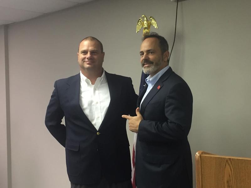 Governor Matt Bevin and Ballard County Judge/Executive Todd Cooper.