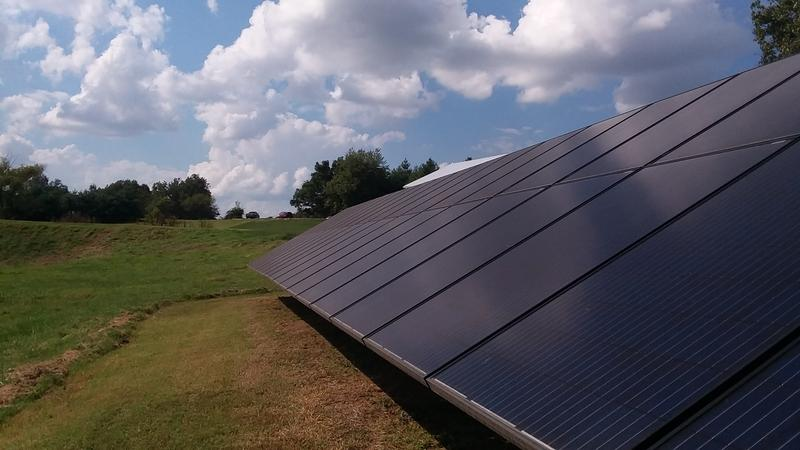 The 10.1 kilowatt unit located at this home in Graves County, Ky. provides 50 percent of the home's power.