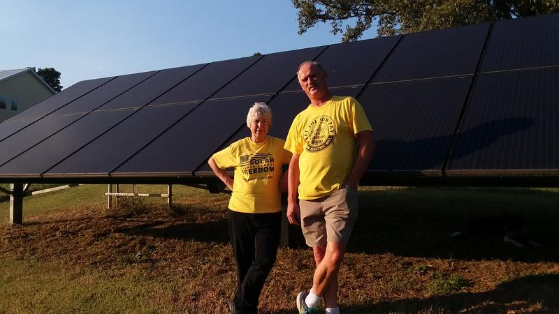 Homeowners Leslie McColgin and George Kennedy built their house two and a half years ago around the principle of energy efficiency.
