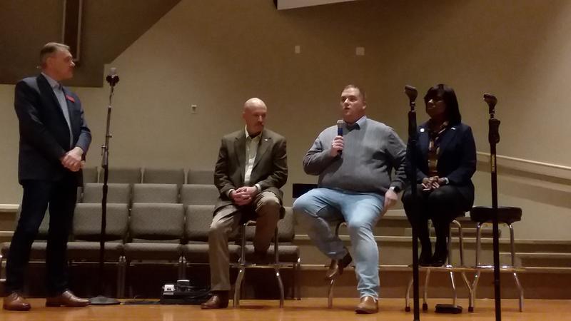 Politicians including Ky. Lt. Gov. Jenean Hampton and Ky. Sen. Whitney Westerfield spoke against the Oak Grove race track.