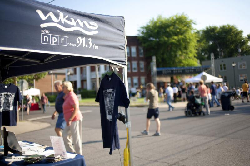 WKMS Booth at LowerTown 2012