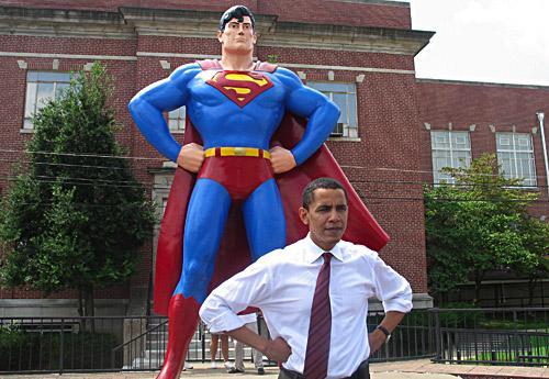Obama visits Metropolis, 2006.