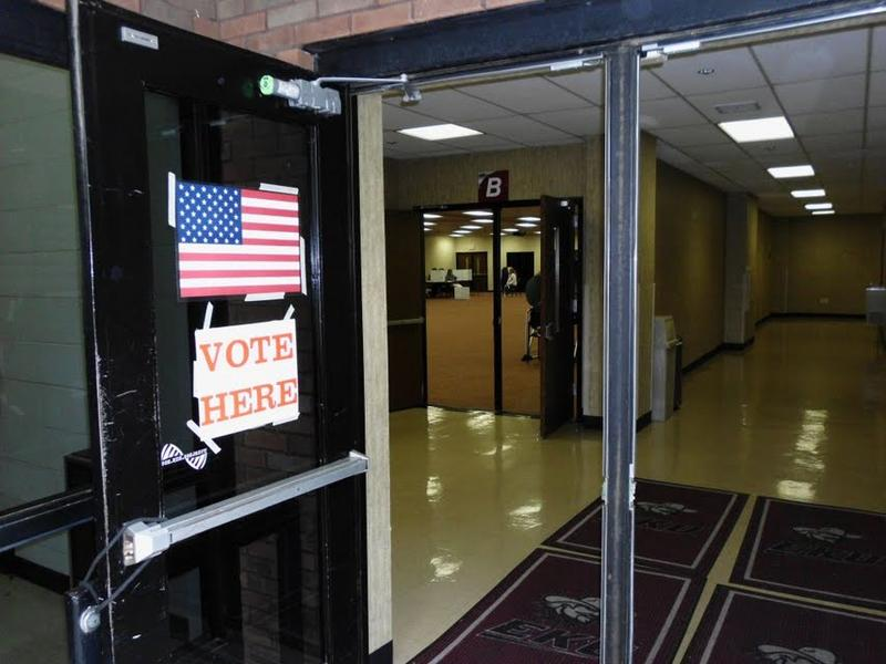 An empty polling station at Eastern Kentucky University in Richmond, KY.